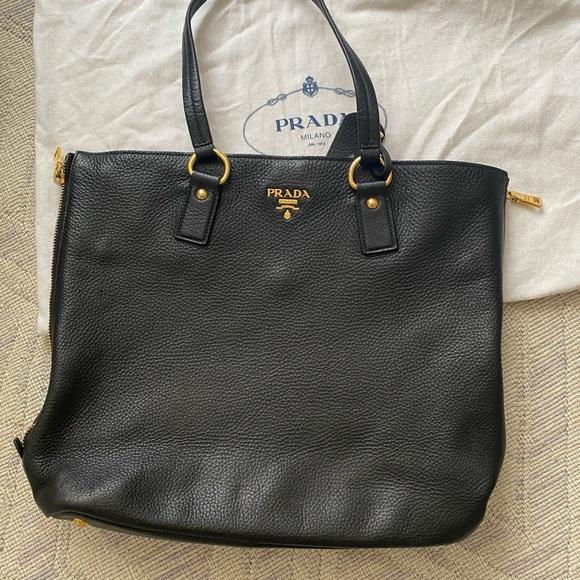 Prada Handbags - Prada black leather bag